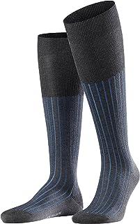 FALKE 男式阴影及膝袜 - 95% 棉,多种颜色,英国尺码 7-11 (欧码 41-46),1 双 - 丝光、有趣和微妙的双色效果