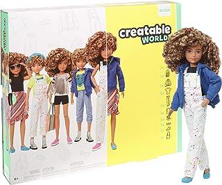 Creatable World 豪华人物套装可定制娃娃,金发卷发