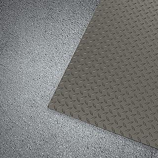 WorkForce 乙烯基钻石板商业级哑光卷,0.32 cm x 7.62 cm x 3.86 cm,黑色