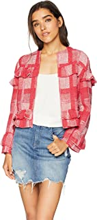 Jack 女士闪耀飞纱染色格纹外套