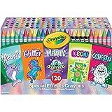 Crayola 绘儿乐 120 支专业颜色蜡笔,着色套装,适合 4、5、6、7 岁儿童的礼物