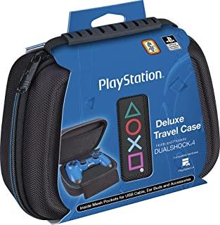 官方*索尼 PlayStation 4 控制器保护套 – 豪华防护旅行保护套 – 黑色弹道尼龙外观