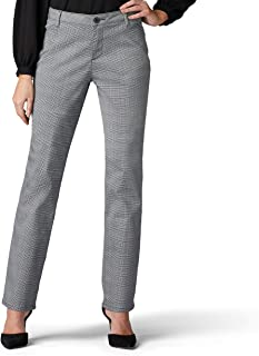 Lee Women's Petite Relaxed Fit All Day Pant, Black, 10 Petite Petite Relaxed Fit All Day Straight Leg Pant