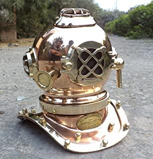 collectiblesBuy Antique Marine Mini Diving Helmet Replica Mark Us Navy Nautical Copper Finish