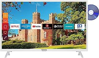 Telefunken XF32J519D-W 32 英寸电视(智能电视包括Prime Video / Netflix / YouTube,全高清,DVD 播放器,蓝牙,配合Alexa,三调谐器)[202020]