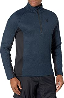 Spyder Active Sports 男式户外半拉链中等重量企领毛衣