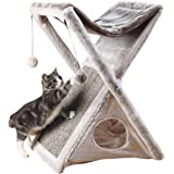TRIXIE Pet Products Miguel Fold and Store Cat Tower 灰色