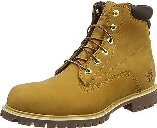 Timberland 男式 6 Inch Basic Alburn 防水系帶靴子