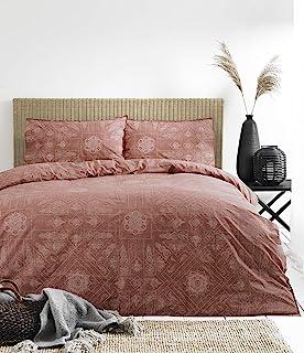 The Linen Yard 波西米亚被套套装,红色,260 x 220厘米