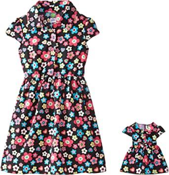 Dollie & Me Big Girls' Floral Shirtdress