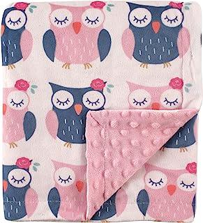 Hudson Baby 印花水貂毛毯带圆点基材 Owls 均码