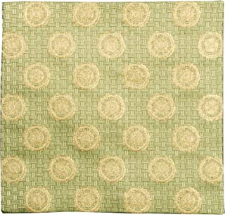 修房(Syusai) 古帛纱 绿 尺寸:纵15.6x横15x厚0.3cm 交织 纱帘裂 小花纹
