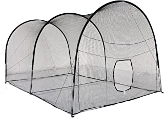 Kapler 22 英尺(长)X 12 英尺(深)X 10 英尺(高)棒球击球笼 16 毫米高强度钢框 垒球击球笼 训练网 后院户外