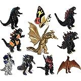 EZFun 10 件套 Godzilla 玩具带手提袋,可移动的关节动作公仔 2019 年,《怪兽*》迷你恐龙摩斯拉·伊…