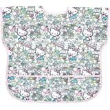 Bumkins Hello Kitty中款围兜/短袖幼儿围兜/罩衫 适合1-3岁儿童,防水,耐水洗,耐污渍和耐异味