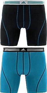 adidas 男式运动弹力平角内裤内裤 (2件装)