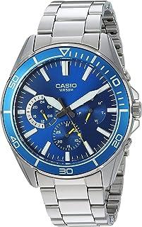 Casio Casio 男式'运动'石英不锈钢休闲手表,颜色:银色调(型号:MTD-320D-2AVCF)