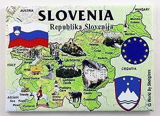 斯洛伐克 欧盟系列 纪念品 冰箱贴 6.35 厘米 X 8.89 厘米