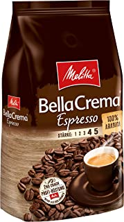 Melitta 美乐家 咖啡全豆 纯阿拉比卡,浓郁,强度4-5,BellaCrema Espresso(意式浓缩咖啡),1kg