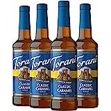 Torani 无糖糖浆,经典焦糖,25.4 盎司/750毫升(4件装)