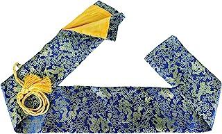 MAKOTO 丝绸剑包 适用于日本武士刀、Wakizashi 和中国太极剑(龙蓝色)