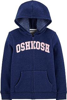 OSHKOSH b'gosh 女童幼兒全拉鏈徽標連帽衫
