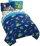 Jay Franco Disney 玩具总动员巴斯和伍迪 4 件套单人床套装 - 包括双面被子和床单套装 - 超柔软防褪…