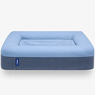 Casper Sleep 小狗床,毛绒记忆泡沫,大号,蓝色