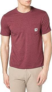 Element 男士 ElementBasic Pocket Label - T 恤 Manches Courtes Homme S T 恤,行动,Vint RED Heathe,S