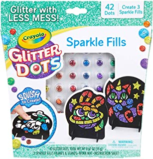 Crayola 闪光点刻版贴纸 Glitter Fills
