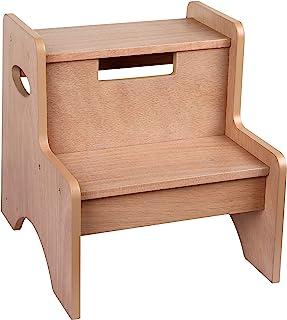 Wildkin 两步凳,儿童及成年人的木制踏凳,家庭和办公室,14 英寸高,3 岁以上儿童 橡木色