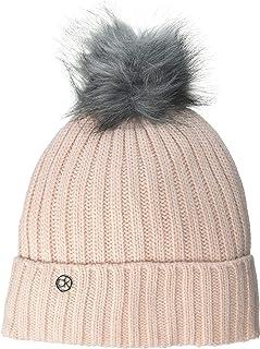 Calvin Klein 女式条纹罗纹毛边帽