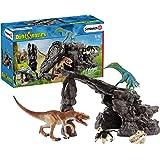 Schleich 思乐 恐龙玩具套装 假山雕像玩具 多色