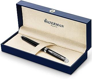 Waterman Hemisphere Fountain Pen, Fine Nib, Black with Chrome Trim (S0920510)