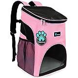 PetAmi 高级宠物背包,适合小型猫和犬 | 通风设计,*带,扣子支撑| 专为旅行、远足和户外使用设计 粉红色
