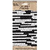 Tim Holtz Idea-ology 小谈话贴纸,8.25 x 4.25 英寸纸张尺寸,296 张贴纸,黑色/白色…