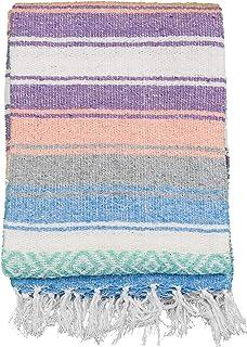 Andrew James 正品墨西哥毯 - 传统手工编织毯 - 非常适合瑜伽、海滩、家居装饰、露营(梦想家)