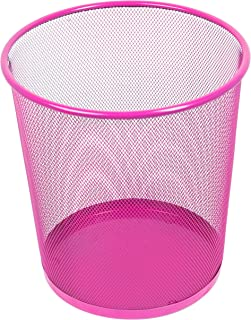 Leviatan 纸盒 金属丝网 | 办公室垃圾桶 | 垃圾桶 | 纸盒 | 266 毫米 x 218 毫米 x 280 毫米,12 升,粉色