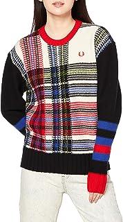 FRED PERRY 毛衣 REVERSE TARTAN JUMPER K9107 女士