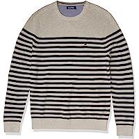 Nautica 男士条纹针织毛衣