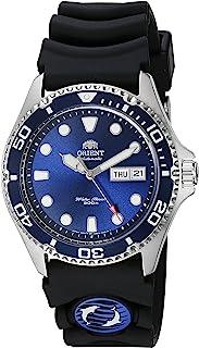 "Orient 男式""Ray II Rubber""日本自动不锈钢潜水手表,颜色:银色(型号:FAA02008D9)"