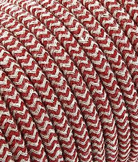 merlotti 20.380 电线 电动圆形涂层织物,沙子/樱桃,3米