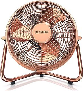 Brandson - 复古风机,铜制设计风扇,32瓦 - 立式风扇 - 立式风扇 - 高空气流量 - 无级倾斜风扇头