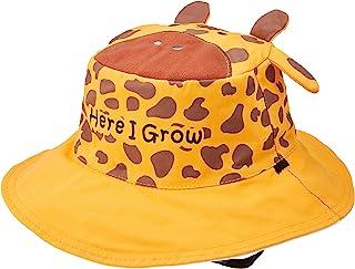 FlapJackKids【日本正品】帽子 双面可用 夏季帽子 长颈鹿/斑马 黄色/白色 1个 M码 LUV0119M