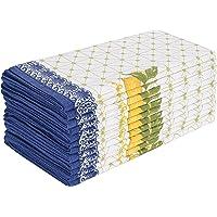 Cloth Napkins 12 件套棉麻混纺印花晚餐餐巾非常适合派对晚餐婚礼鸡尾酒餐巾布 50.88 x 50.80…