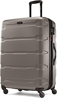 Samsonite 新秀丽 Omni Pc Hardside 可扩展行李箱,带万向轮,银色,Checked-Large 28-Inch