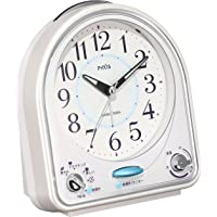 Seiko 精工 时钟 模拟 31首乐曲 闹钟 PYXIS 白色 NR435W