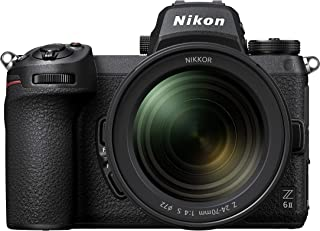尼康 Z 6II 全画幅无反相机,配有尼康 24-70毫米 1:4 S(2450万像素,每秒14帧,混合自动对焦,双 EXPEED 处理器,双存储卡插槽,4K 超高清视频,10位HDMI输出)