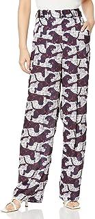 DOUBLE STANDARD CLOTHING D/Nero 动物印花阔腿裤 4806-171-203 女士