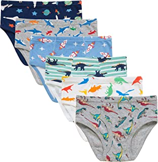 圣诞男童恐龙三角裤幼儿儿童卡车内裤柔软棉质飞机火箭鲨鱼内裤(6 件装)